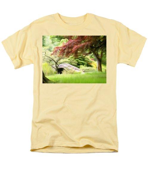 Rustic Bridge Men's T-Shirt  (Regular Fit) by Carol Crisafi
