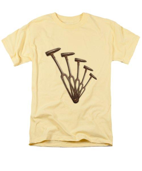 Rustic Hammer Pattern Men's T-Shirt  (Regular Fit) by YoPedro