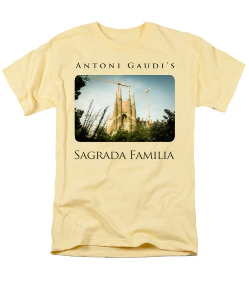 Sagrada Familia With Catalonia's Flag Men's T-Shirt  (Regular Fit) by Alejandro Ascanio