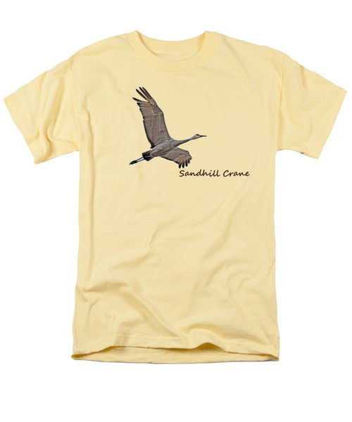 Sandhill Crane In Flight Men's T-Shirt  (Regular Fit)