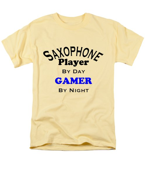 Saxophone Player By Day Gamer By Night 5622.02 Men's T-Shirt  (Regular Fit) by M K  Miller
