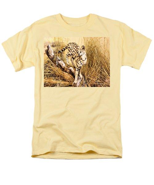Serval Men's T-Shirt  (Regular Fit) by Kristin Elmquist