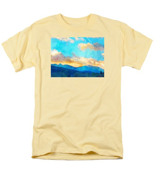 Sheeps Head And Truchas Peaks-predawn December Men's T-Shirt  (Regular Fit) by Anastasia Savage Ealy