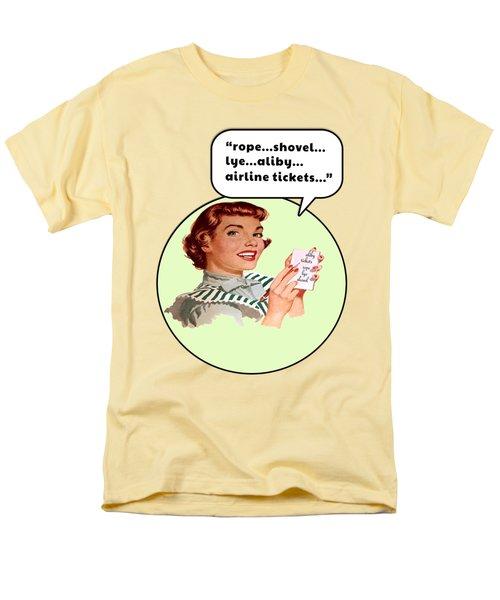 Shopping List Men's T-Shirt  (Regular Fit) by Christopher Woods