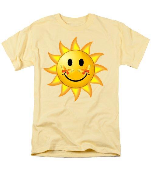 Men's T-Shirt  (Regular Fit) featuring the digital art Smiley Face Sun by Robert G Kernodle