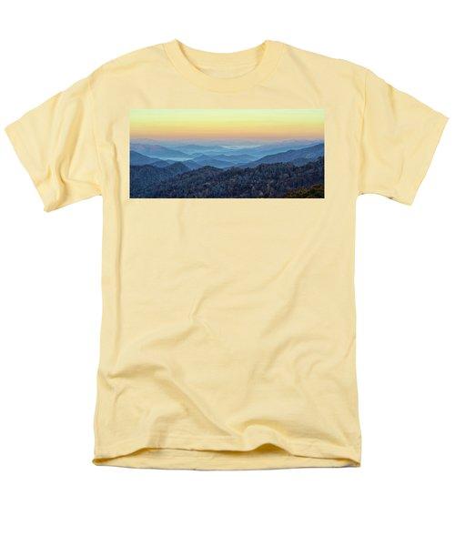 Smoky Mountains Men's T-Shirt  (Regular Fit) by Nancy Landry