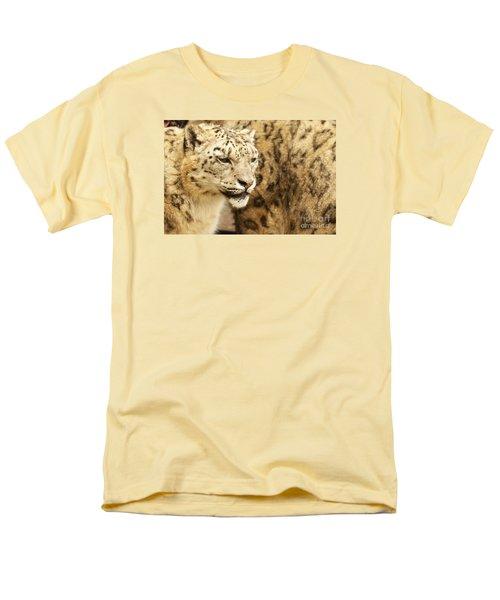 Snow Leopard  Men's T-Shirt  (Regular Fit) by Gary Bridger