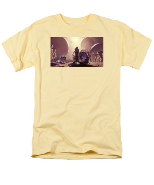 Men's T-Shirt  (Regular Fit) featuring the photograph Space The Final Frontier by Lawrence Christopher