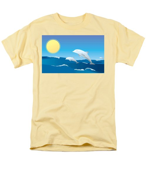 Splash Men's T-Shirt  (Regular Fit) by Now