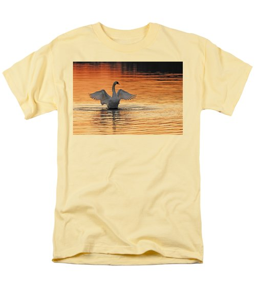 Spreading Her Wings In Gold Men's T-Shirt  (Regular Fit) by Randall Branham