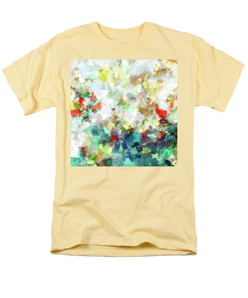 Men's T-Shirt  (Regular Fit) featuring the painting Spring Abstract Art / Vivid Colors by Ayse Deniz