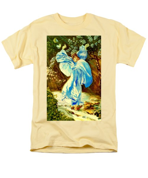 Men's T-Shirt  (Regular Fit) featuring the painting Spring - Awakening by Henryk Gorecki