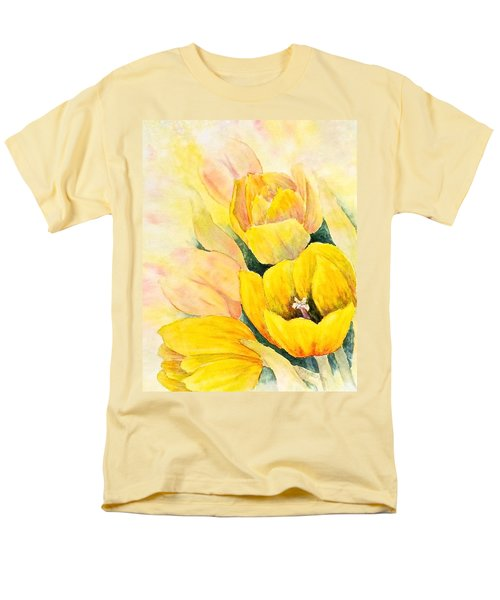 Men's T-Shirt  (Regular Fit) featuring the painting Spring Tulips by Carolyn Rosenberger