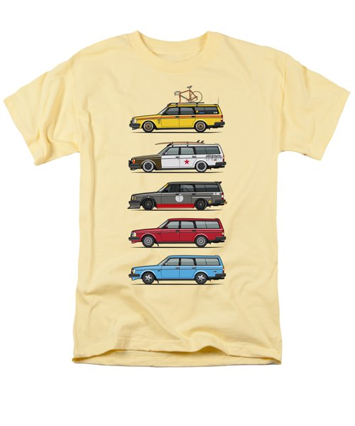 Stack Of Volvo 200 Series 245 Wagons Men's T-Shirt  (Regular Fit) by Monkey Crisis On Mars