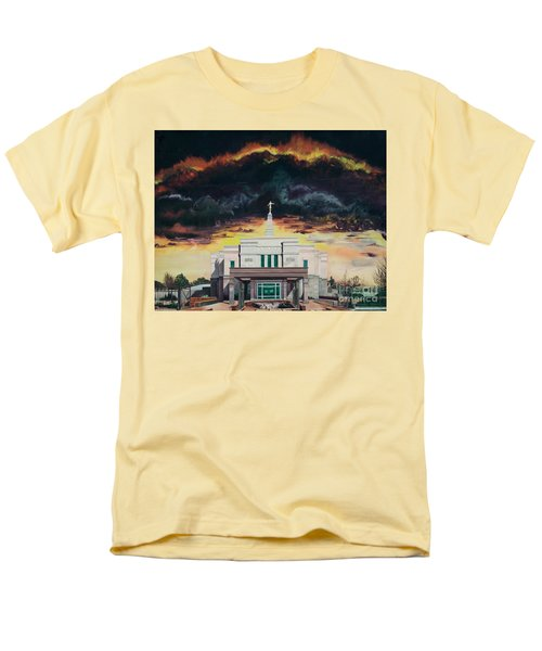 Men's T-Shirt  (Regular Fit) featuring the painting Stand In Holy Places by Jane Autry