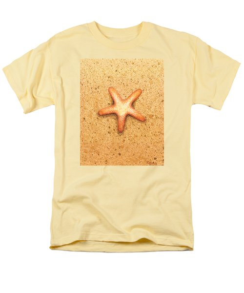 Men's T-Shirt  (Regular Fit) featuring the painting Star Fish by Katherine Young-Beck