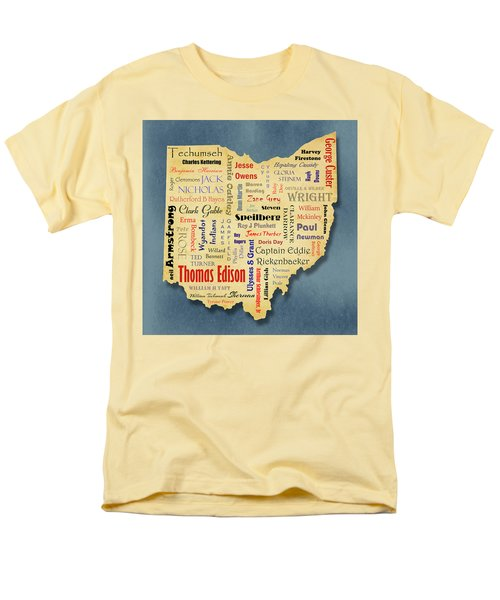 States - Famous Ohio Men's T-Shirt  (Regular Fit) by Ron Grafe