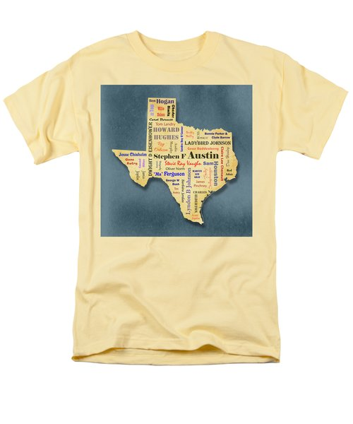 States - Famous Texas Men's T-Shirt  (Regular Fit) by Ron Grafe