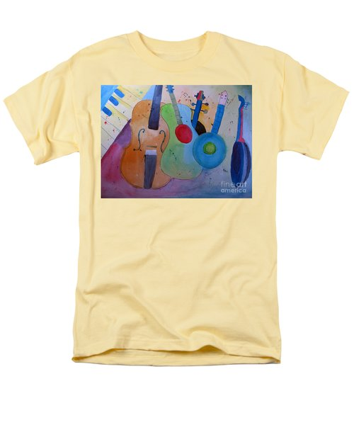 Men's T-Shirt  (Regular Fit) featuring the painting Strings by Sandy McIntire
