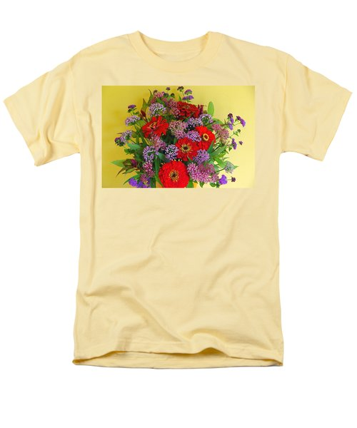 Men's T-Shirt  (Regular Fit) featuring the photograph Summer Flower Bouquet by Byron Varvarigos