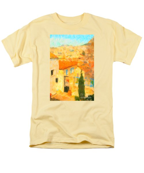 Men's T-Shirt  (Regular Fit) featuring the painting Summer In Athens by Chris Armytage