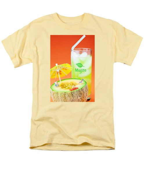 Men's T-Shirt  (Regular Fit) featuring the photograph Summer Memory Little People On Food by Paul Ge
