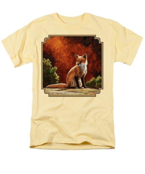 Sun Fox Men's T-Shirt  (Regular Fit)