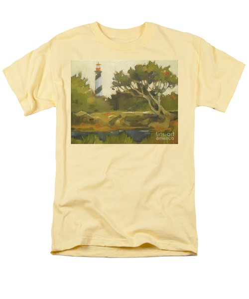 Sunday Lighthouse Men's T-Shirt  (Regular Fit) by Mary Hubley
