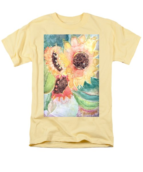 Men's T-Shirt  (Regular Fit) featuring the painting Sunflower Glory by Renate Nadi Wesley
