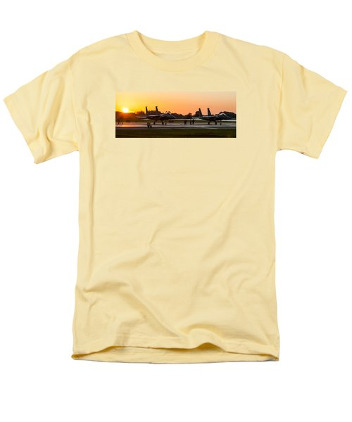Sunset At Raf Lakenheath Men's T-Shirt  (Regular Fit) by Tim Beach