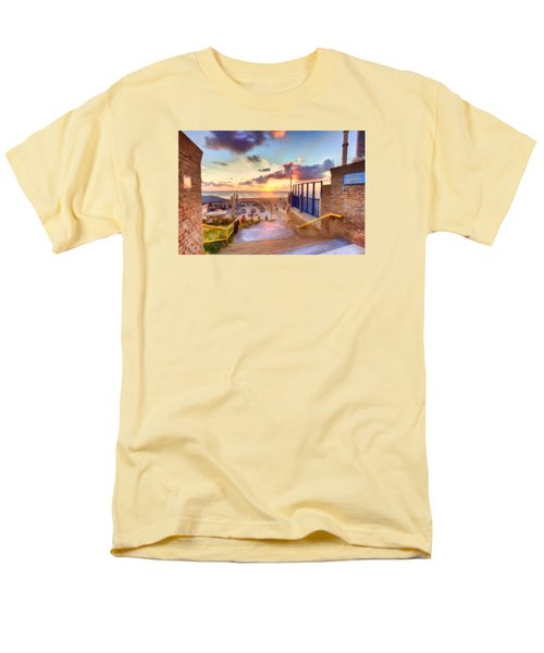 Sunset By The Sea Men's T-Shirt  (Regular Fit) by Nadia Sanowar