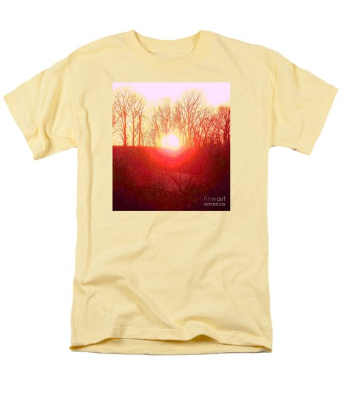 Sunset Red Yellow Men's T-Shirt  (Regular Fit) by Shirley Moravec