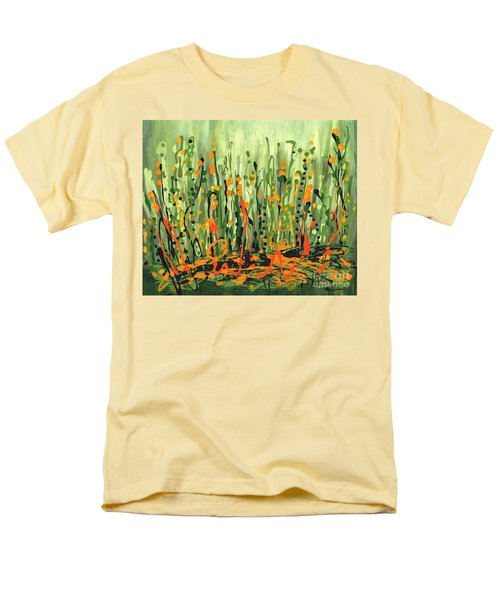 Men's T-Shirt  (Regular Fit) featuring the painting Sweet Jammin' Peas by Holly Carmichael
