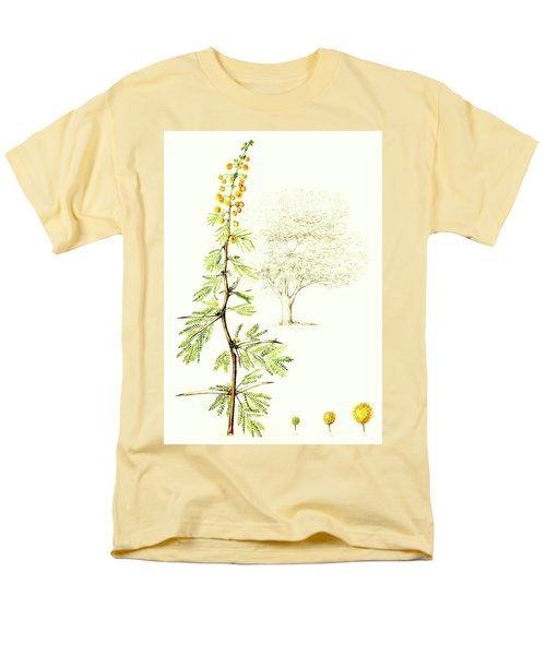 Men's T-Shirt  (Regular Fit) featuring the painting Sweet Thorn Botanical Illustration by Heidi Kriel
