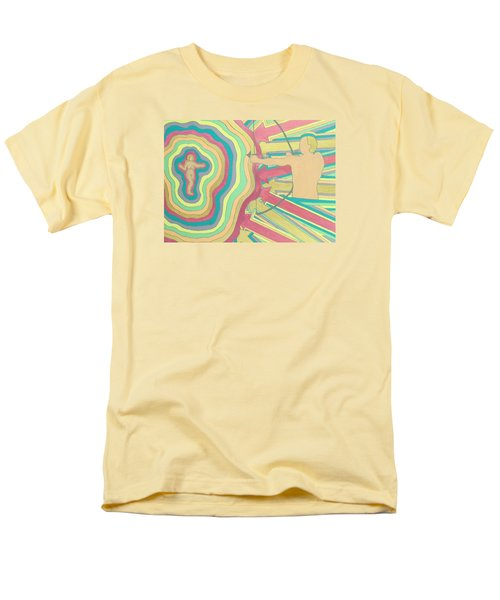 Men's T-Shirt  (Regular Fit) featuring the painting Target by Erika Chamberlin