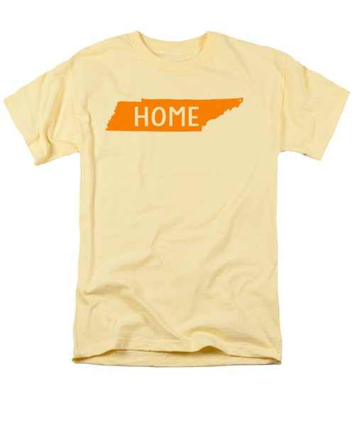 Men's T-Shirt  (Regular Fit) featuring the digital art Tennessee Home Orange by Heather Applegate