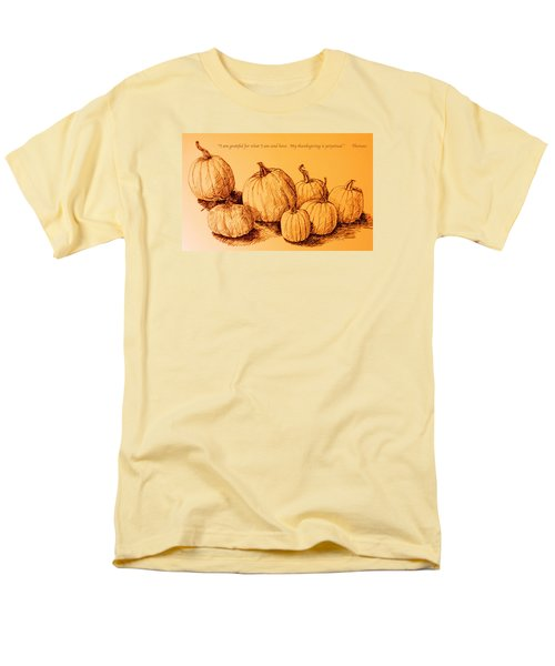 Thanksgiving Pumpkins Men's T-Shirt  (Regular Fit) by Deborah Dendler