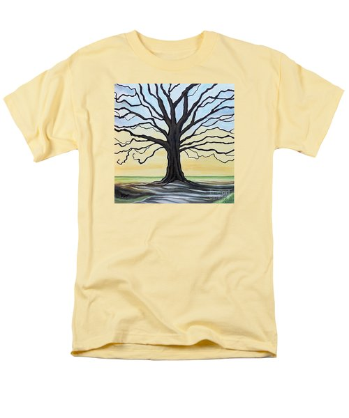 The Stained Old Oak Tree Men's T-Shirt  (Regular Fit) by Elizabeth Robinette Tyndall