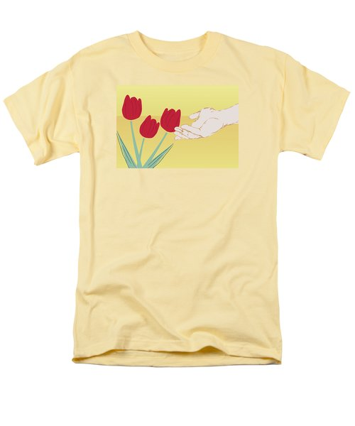 Men's T-Shirt  (Regular Fit) featuring the digital art The Tulips by Milena Ilieva