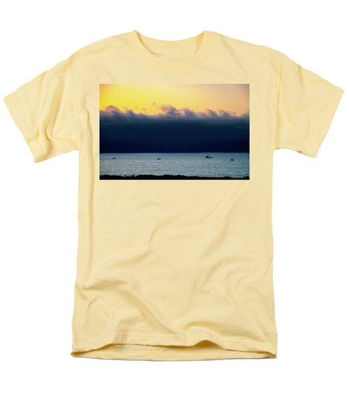 Men's T-Shirt  (Regular Fit) featuring the photograph Thick Fog Blankets Sunset by Joseph Hollingsworth