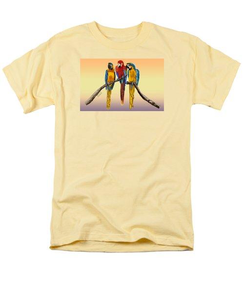 Three Macaws Hanging Out Men's T-Shirt  (Regular Fit) by Thomas J Herring