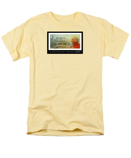 Men's T-Shirt  (Regular Fit) featuring the photograph Ticket To Pope John Paul In Chicago 1979 by Sherri  Of Palm Springs
