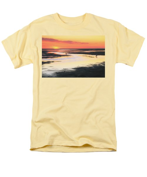 Men's T-Shirt  (Regular Fit) featuring the photograph Tidal Flats At Sunset by Roupen  Baker