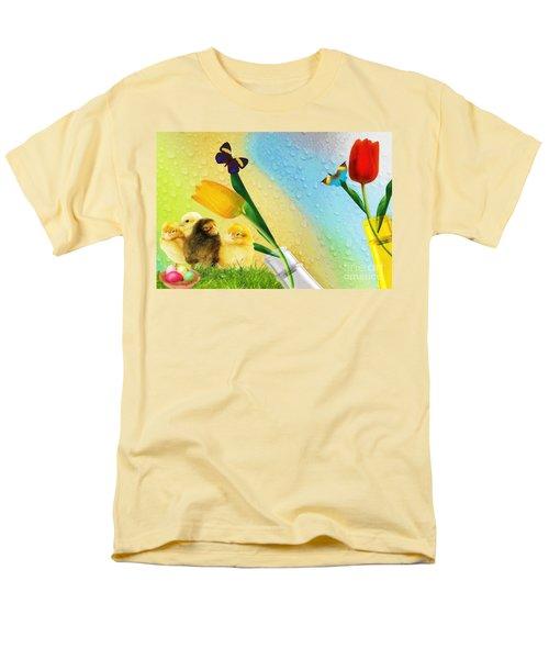 Tiptoe Through The Tulips Men's T-Shirt  (Regular Fit) by Liane Wright