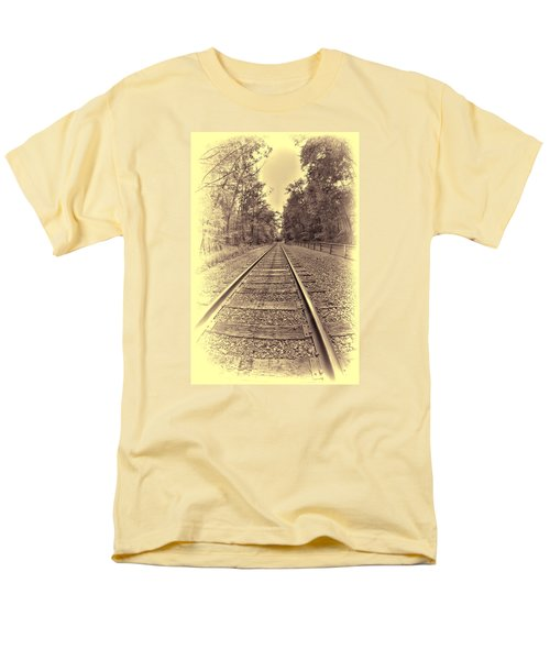 Tracks Through The Park Men's T-Shirt  (Regular Fit) by Dennis Lundell
