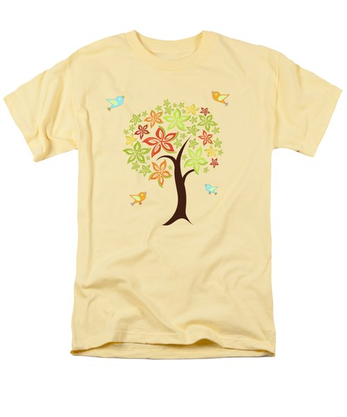 Tree And Birds Men's T-Shirt  (Regular Fit) by Gaspar Avila