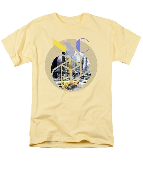 Trendy Design New York City Geometric Mix No 3 Men's T-Shirt  (Regular Fit) by Melanie Viola