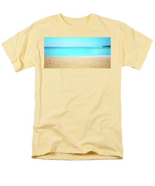 Tropical Art - Turquoise Sand Beach Lagoon Photography Men's T-Shirt  (Regular Fit) by Modern Art Prints