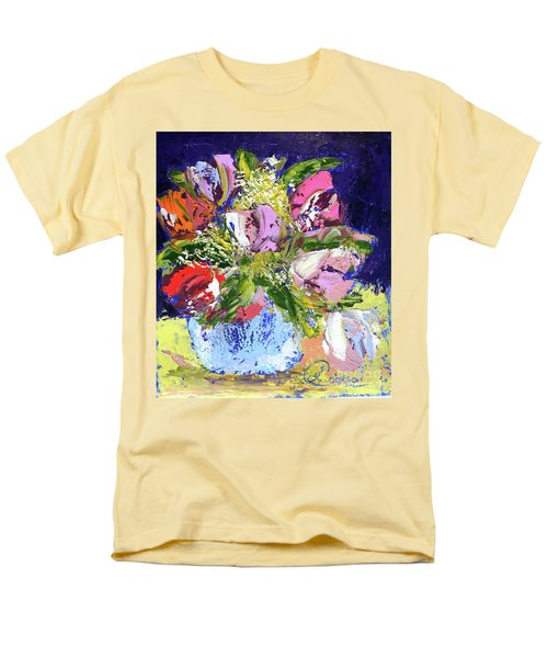 Tulips And Gypsophila Men's T-Shirt  (Regular Fit) by Lynda Cookson