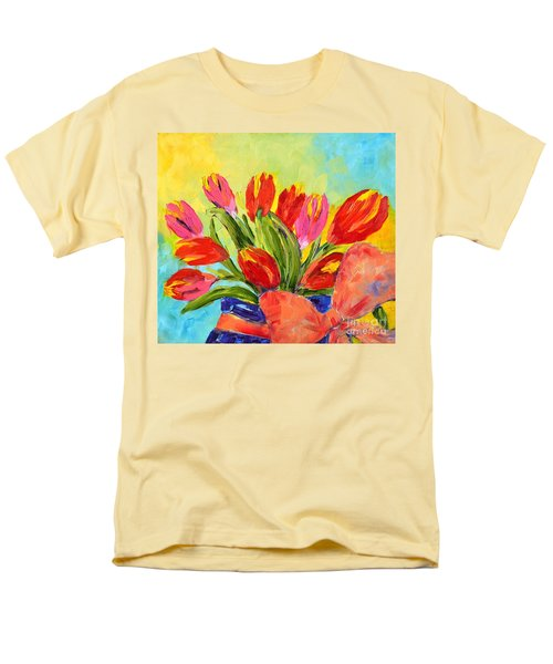 Tulips Tied Up Men's T-Shirt  (Regular Fit) by Lynda Cookson